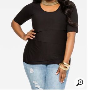 Tops - Black layered style top
